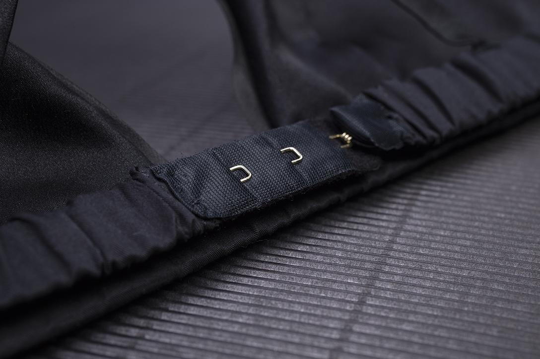 Bralette - Zwart - zijden ondergoed - Māsa Organic