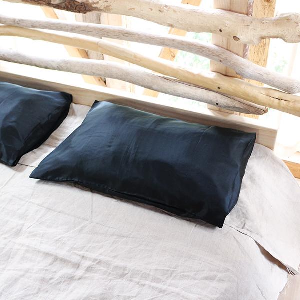 Zijden kussensloop kopen - Zwart - Māsa Organic